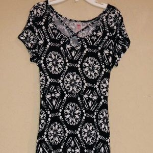 Justice Brand Black And White Soft Dress